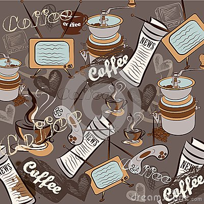 Fashion retro coffee pattern for design