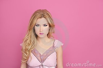 Fashion romantic blonde pink barbie doll style