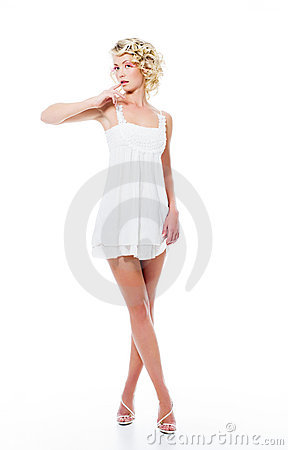 Fashion sensuality attractive woman