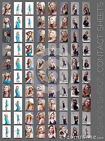 Free Fashion Shoot Contact Sheet . Royalty Free Stock Photo - 16784935
