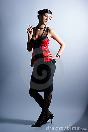 Free Fashion Shoot Of A Young Woman In An Erotic Dress Royalty Free Stock Images - 17757629