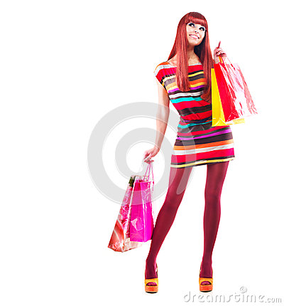 Free Fashion Shopping Girl Royalty Free Stock Photography - 27874997