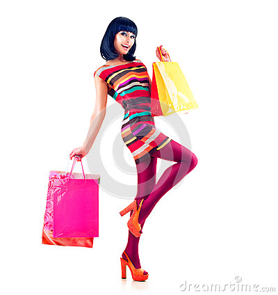 Free Fashion Shopping Girl Stock Photo - 37402180
