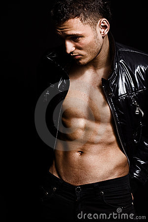 Free Fashion Shot Of Muscular Handsome Man Stock Photos - 9204823