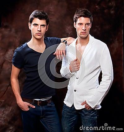 Fashion Shot of a trendy European mans