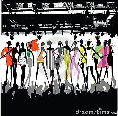 Fashion Show Crowd