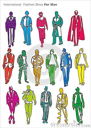 Fashion show for man model