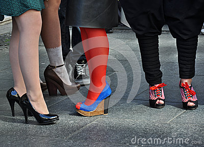 Woman s legs in spring shoes