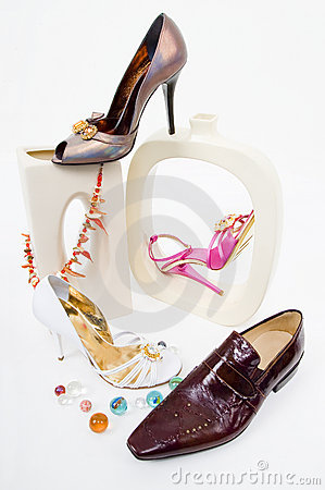 Free Fashion Still-life With Glamour Shoes Stock Image - 4939841