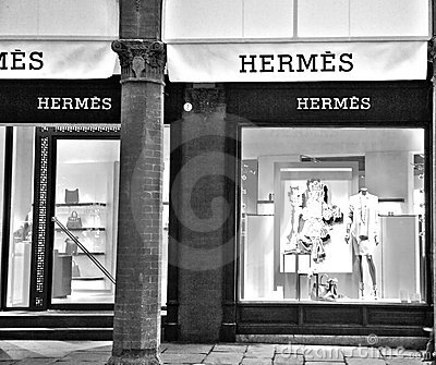 Fashion store hermes Editorial Photo