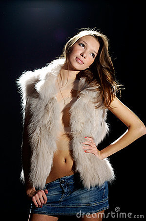 Fashion style photo of young beautiful woman