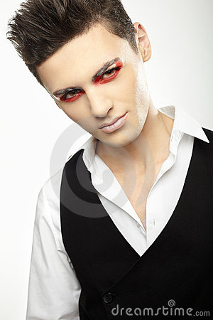 Fashion style photo of a young man