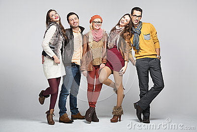 Fashion style picture of friends