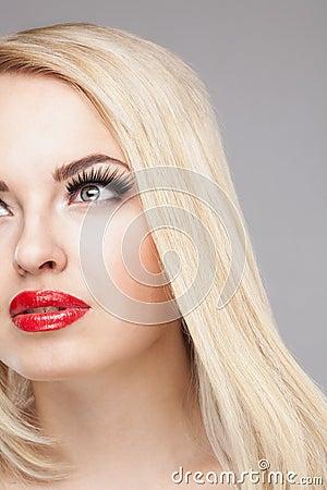 Free Fashion Stylish Beauty Portrait Of Smiling Beautiful Blonde Girl Stock Images - 58660904