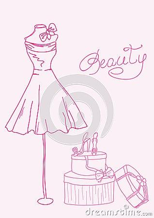 Fashion Stylized Doodle Stock Photography - Image: 22121962