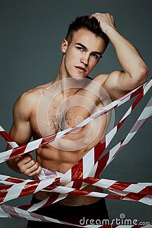 Free Fashion Topless Man Stock Photography - 59415592