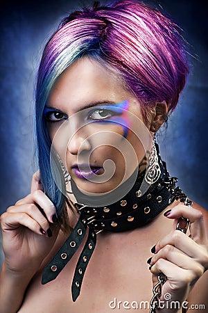 Free Fashion Underground Punk Look. Royalty Free Stock Photos - 22328468