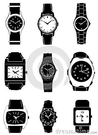 Fashion watch vector