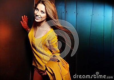 Fashion woman in autumn