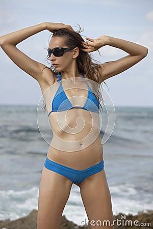 Fashion woman in bikinis