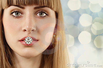 Fashion woman with diamond