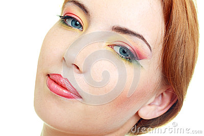 Fashion woman model with beauty bright make-up