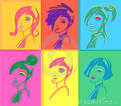 Fashion woman pop art
