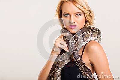 Fashion woman python