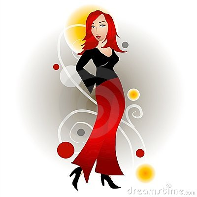 Fashion Woman Redhead