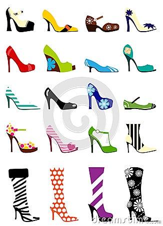Free Fashion Woman Shoes Royalty Free Stock Photo - 9955425