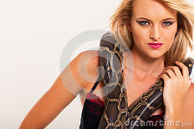 Fashion woman snake
