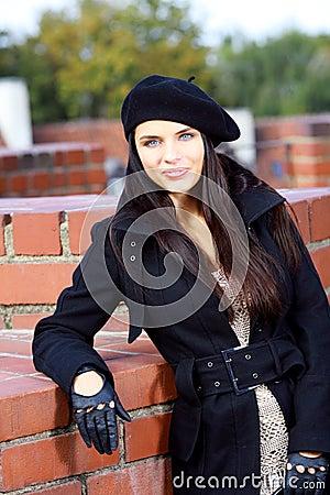 Fashion woman in street
