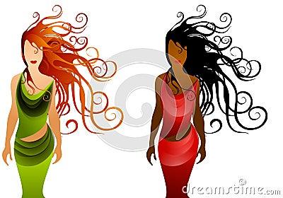Fashion Women With Long Hair 2