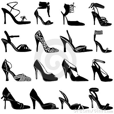 Free Fashion Women Shoes Vector Stock Photo - 4468960