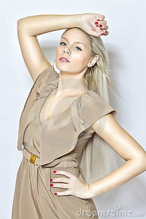 Fashion young blond girl