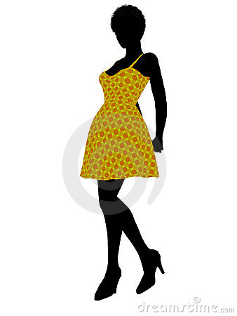 Fashionable African American Female Silhouette