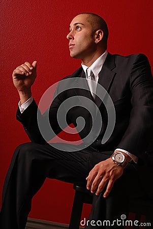 Fashionable business man.
