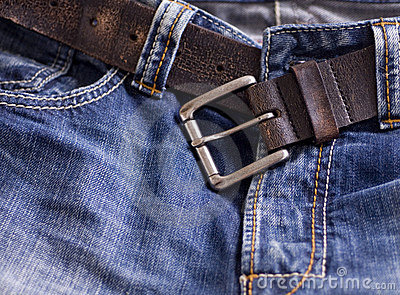 Fashionable denim jeans belt