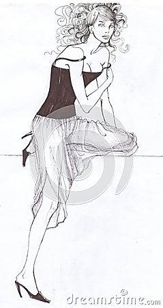 Fashionable Elegant Model