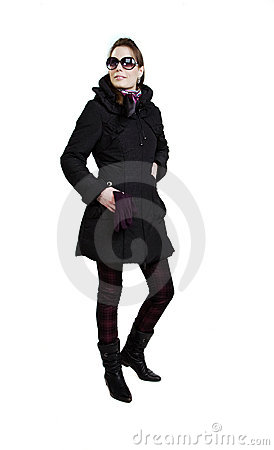 Free Fashionable Girl In An Autumn Coat Royalty Free Stock Photo - 14649025