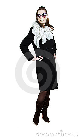 Free Fashionable Girl In An Autumn Coat Royalty Free Stock Photo - 14649045
