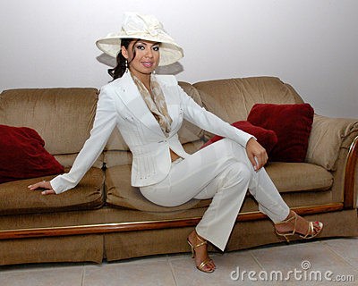 Fashionable hispanic woman