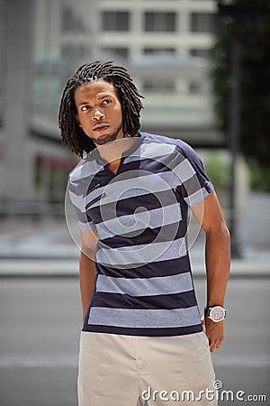 Fashionable Jamaican male model