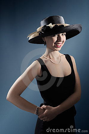 Fashionable lady with hat