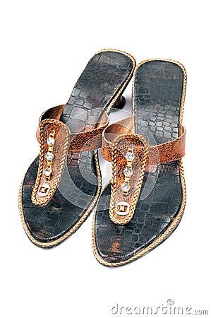 Fashionable leather ladies footwear