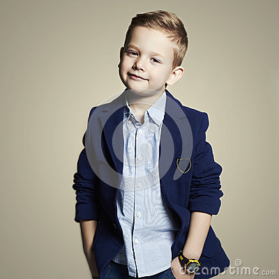Free Fashionable Little Boy.stylish Child In Suit Stock Image - 53353231