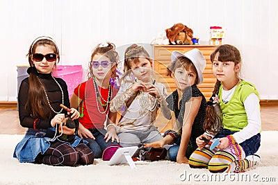 Fashionable little girls