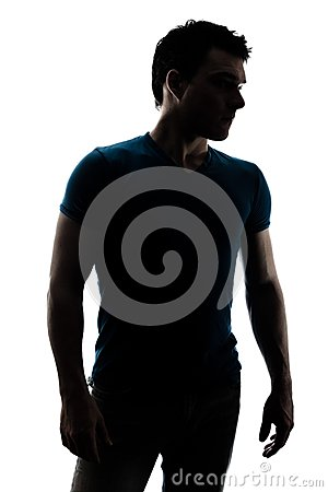 Free Fashionable Male Figure In Silhouette Stock Image - 30260131