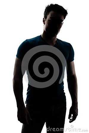 Free Fashionable Male Figure In Silhouette Royalty Free Stock Image - 30260136