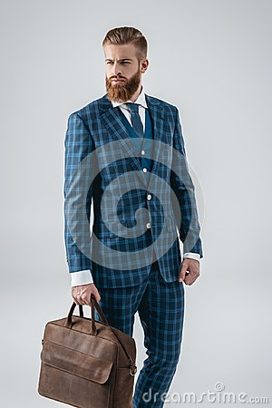 Free Fashionable Man With Bag Stock Photo - 100329870